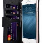 "Melkco Premium Leather Case  for Apple iPhone 7 / 8 Plus (5.5"") – Wallet Book ID Slot Type (Vintage Black)"