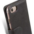 "Melkco Premium Leather Case  for Apple iPhone 7 / 8 Plus (5.5"") – Wallet Book ID Slot Type (Grey Wax)"