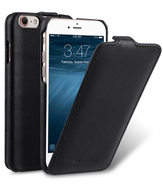 Melkco Premium Leather Case for Apple iPhone 7 (4.7'') - Jacka Type (Vintage Black)