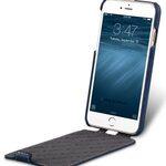 "Melkco Premium Leather Case for Apple iPhone 7 (4.7"") - Jacka Type (Dark Blue LC)"