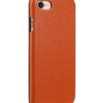 Melkco Premium Leather Case for Apple iphone 7 - Jacka Type (Orange LC)