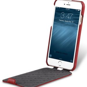 """Melkco Premium Leather Case for Apple iPhone 7 (4.7"""") - Jacka Type (Red LC)"""