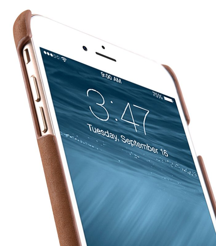 """Melkco Premium Leather Snap Cover for Apple iPhone 7/ 8 Plus(5.5"""") - Classic Vintage Brown"""