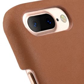 """Melkco Premium Leather Snap Cover for Apple iPhone 7/ 8 Plus(5.5"""") – Classic Vintage Brown"""