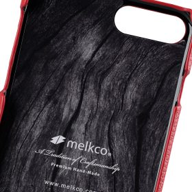 """Melkco Premium Leather Snap Cover for Apple iPhone 7 / 8 Plus(5.5"""") – Red LC"""