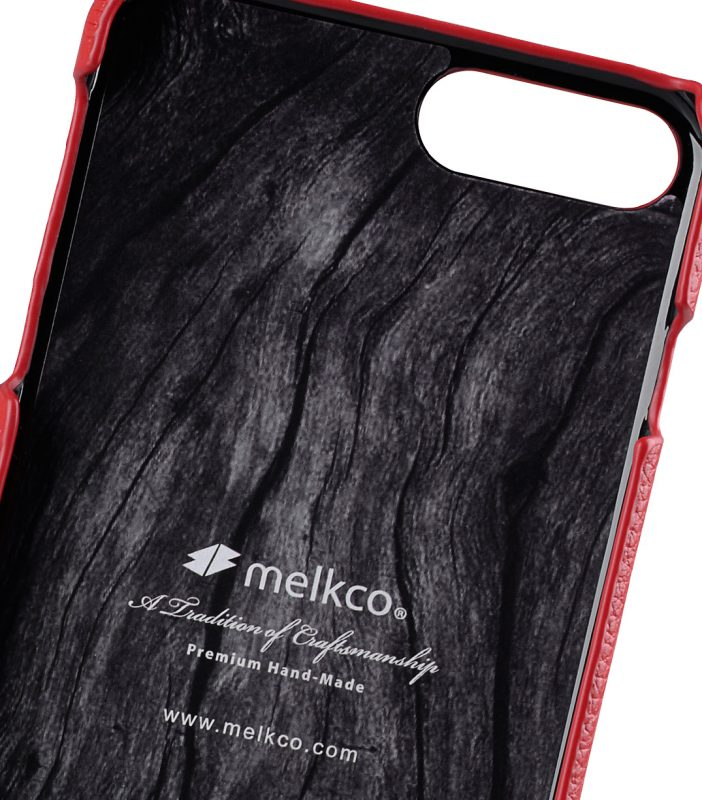 """Melkco Premium Leather Snap Cover for Apple iPhone 7 / 8 Plus(5.5"""") - Red LC"""