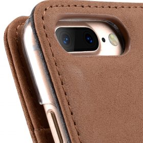 """Melkco Premium Leather Case  for Apple iPhone 7 / 8 Plus (5.5"""") – Wallet Book ID Slot Type(Classic Vintage Brown)"""