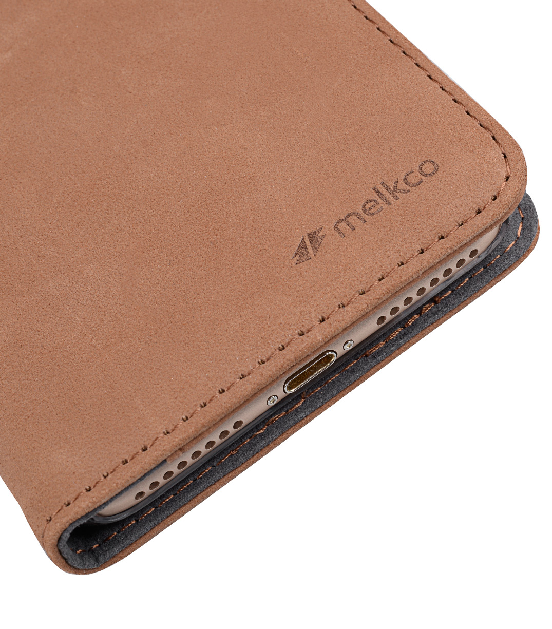 """Melkco Premium Leather Case for Apple iPhone 7 / 8 Plus (5.5"""") - Wallet Book ID Slot Type(Classic Vintage Brown)"""