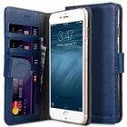 "Melkco Premium Leather Case for Apple iPhone 7 / 8 Plus (5.5"") – Wallet Book ID Slot Type (Dark Blue LC)"