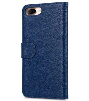 "Melkco Premium Leather Case for Apple iPhone 7 / 8 Plus (5.5"") - Wallet Book ID Slot Type (Dark Blue LC)"