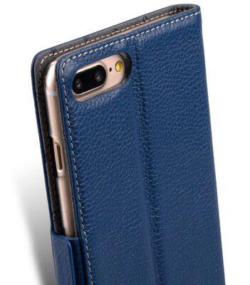 """Melkco Premium Leather Case for Apple iPhone 7 / 8 Plus (5.5"""") - Locka Type (Dark Blue LC)"""