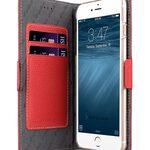 "Melkco Premium Leather Case for Apple iPhone 7 / 8 Plus(5.5"") - Locka Type (Red LC)"