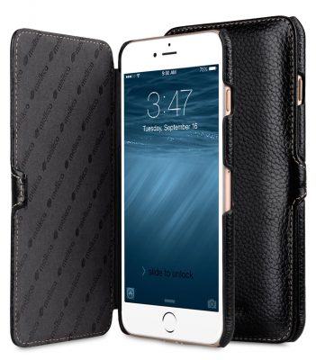 "Melkco Premium Leather Case for Apple iPhone 7 / 8 Plus (5.5"") - Booka Type (Black LC)"