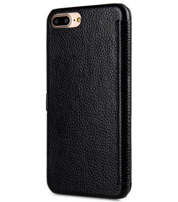 "Melkco Premium Leather Case for Apple iPhone 7 / 8 Plus (5.5"") - Booka Type (Black LC)"