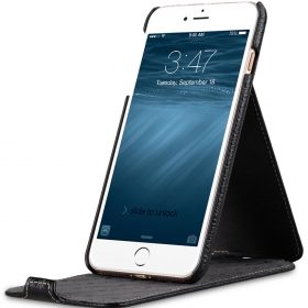 "Melkco Premium Leather Case for Apple iPhone 7 / 8 Plus (5.5"") – Jacka Stand Type (Black LC)"