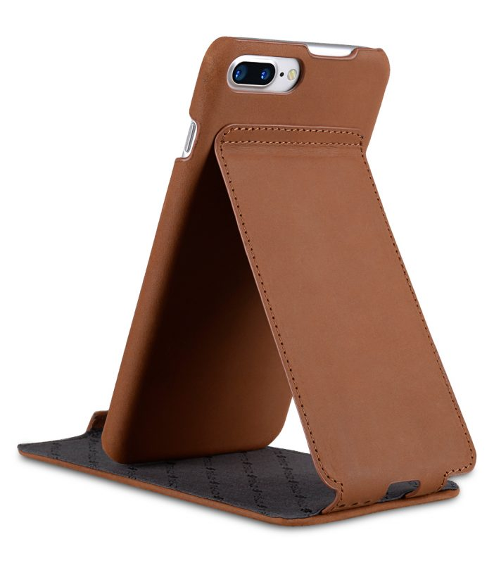 "Melkco Premium Leather Case for Apple iPhone 7 / 8 Plus (5.5"") - Jacka Stand Type (Classic Vintage Brown)"
