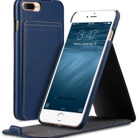 "Melkco Premium Leather Case for Apple iPhone 7 / 8 Plus (5.5"") – Jacka Stand Type (Dark Blue LC)"