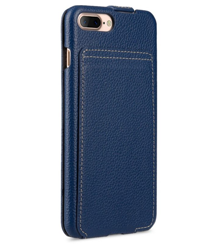 "Melkco Premium Leather Case for Apple iPhone 7 / 8 Plus (5.5"") - Jacka Stand Type (Dark Blue LC)"