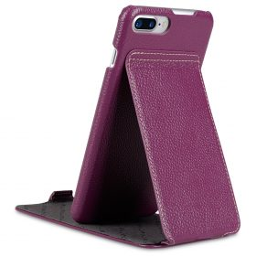 "Melkco Premium Leather Case for Apple iPhone 7 / 8 Plus (5.5"") – Jacka Stand Type (Purple LC)"
