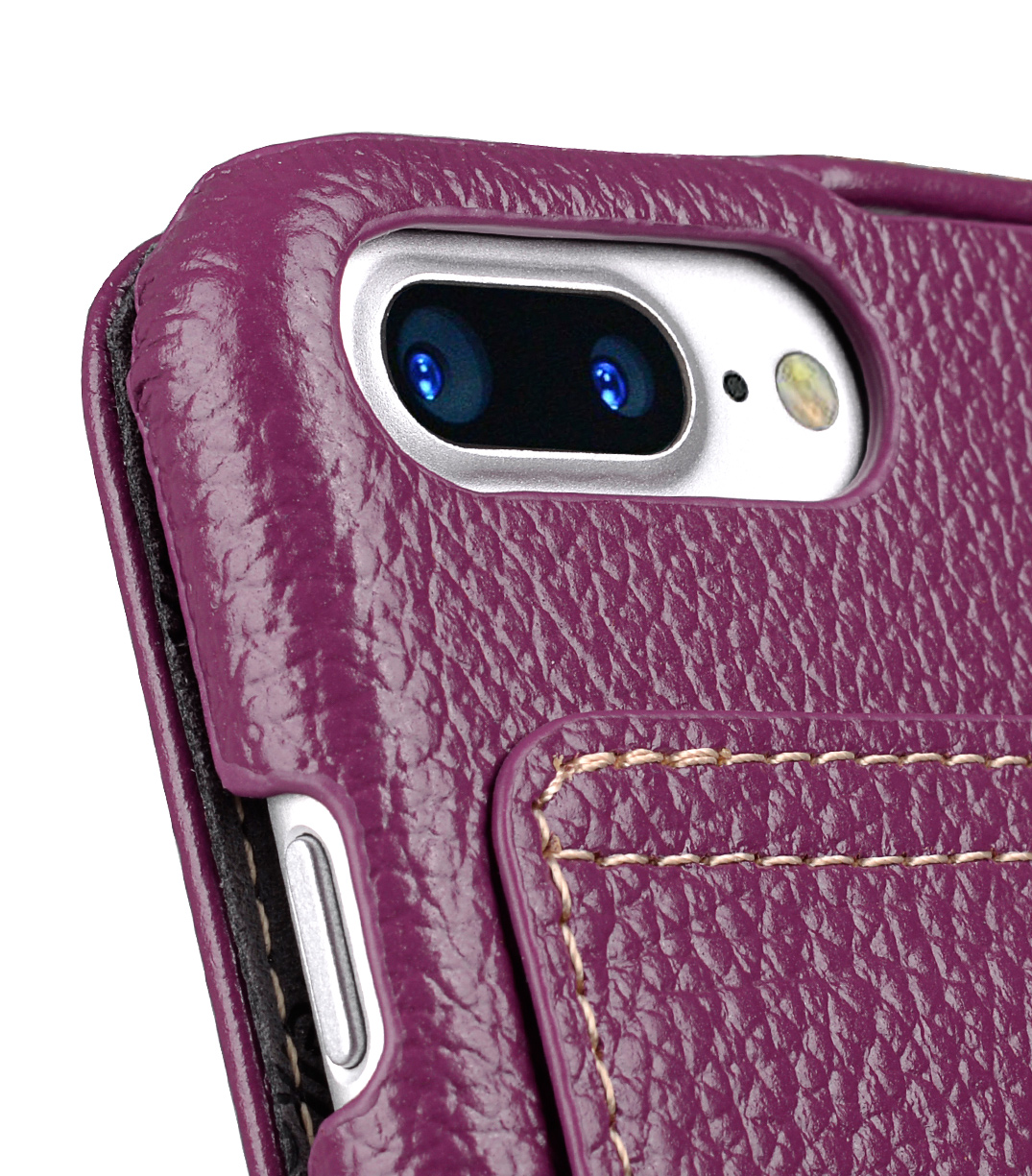 "Melkco Premium Leather Case for Apple iPhone 7 / 8 Plus (5.5"") - Jacka Stand Type (Purple LC)"