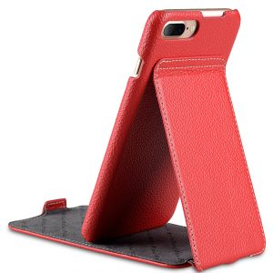 "Melkco Premium Leather Case for Apple iPhone 7 / 8 Plus (5.5"") - Jacka Stand Type (Red LC)"