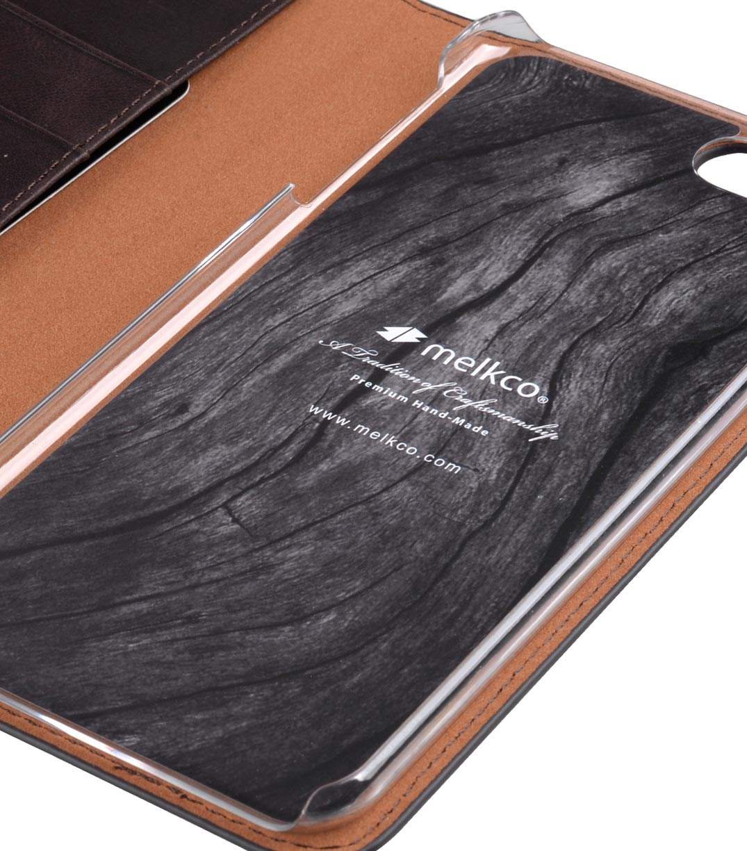 "Melkco Premium Cowhide Leather Herman Series Book Style Case for Apple iPhone 7 / 8 Plus (5.5"") (Coffee)"