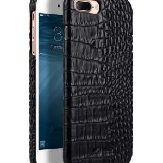 "Melkco Mini PU Leather Snap Cover for Apple iPhone 7 / 8 Plus (5.5"") (Black Crocodile Pattern PU)"