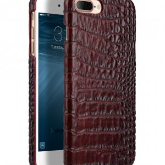 "Melkco Mini PU Leather Snap Cover for Apple iPhone 7 / 8 Plus (5.5"") (Dark Red Crocodile Pattern PU)"