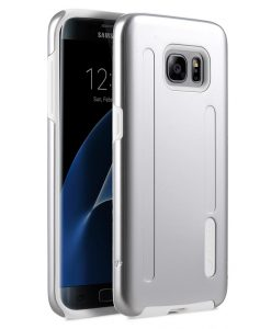 Kubalt double layer case for Samsung Galaxy S7 Edge - Silver / White