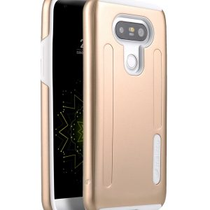 Kubalt special edition metallic double layer case for LG Optimus G5 - (Gold / White)
