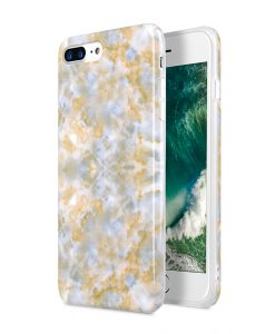 "Melkco Back Snap Series Marble Jacket Case for Apple iPhone 7 / 8 Plus (5.5"") - ( Yellow Mist )"