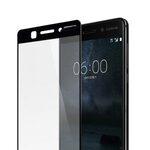 Melkco 3D Curvy 9H Tempered Glass Screen Protector for Nokia 6 - (Transparent / Black)