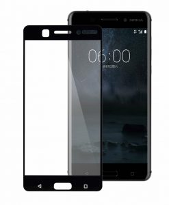 Melkco 3D Curvy 9H Tempered Glass Screen Protector for Nokia 6 - (Transparent / Black)