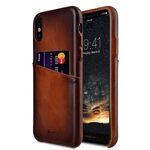 Melkco Elite Series Premium Leather Snap Back Pocket Case for Apple iPhone X - ( Tan )