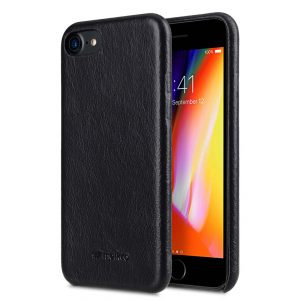 """Melkco Elite Series Waxfall Pattern Premium Leather Coaming Snap Cover Case for Apple iPhone 7 / 8 (4.7"""") - ( Black WF )"""