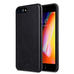 "Melkco Elite Series Waxfall Pattern Premium Leather Coaming Snap Cover Case for Apple iPhone 7 / 8 Plus (5.5"") - ( Black WF )"