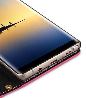 Melkco Fashion Cocktail Series Cross Pattern Premium Leather Slim Flip Type Case for Samsung Galaxy Note 8 - ( Peach CP )