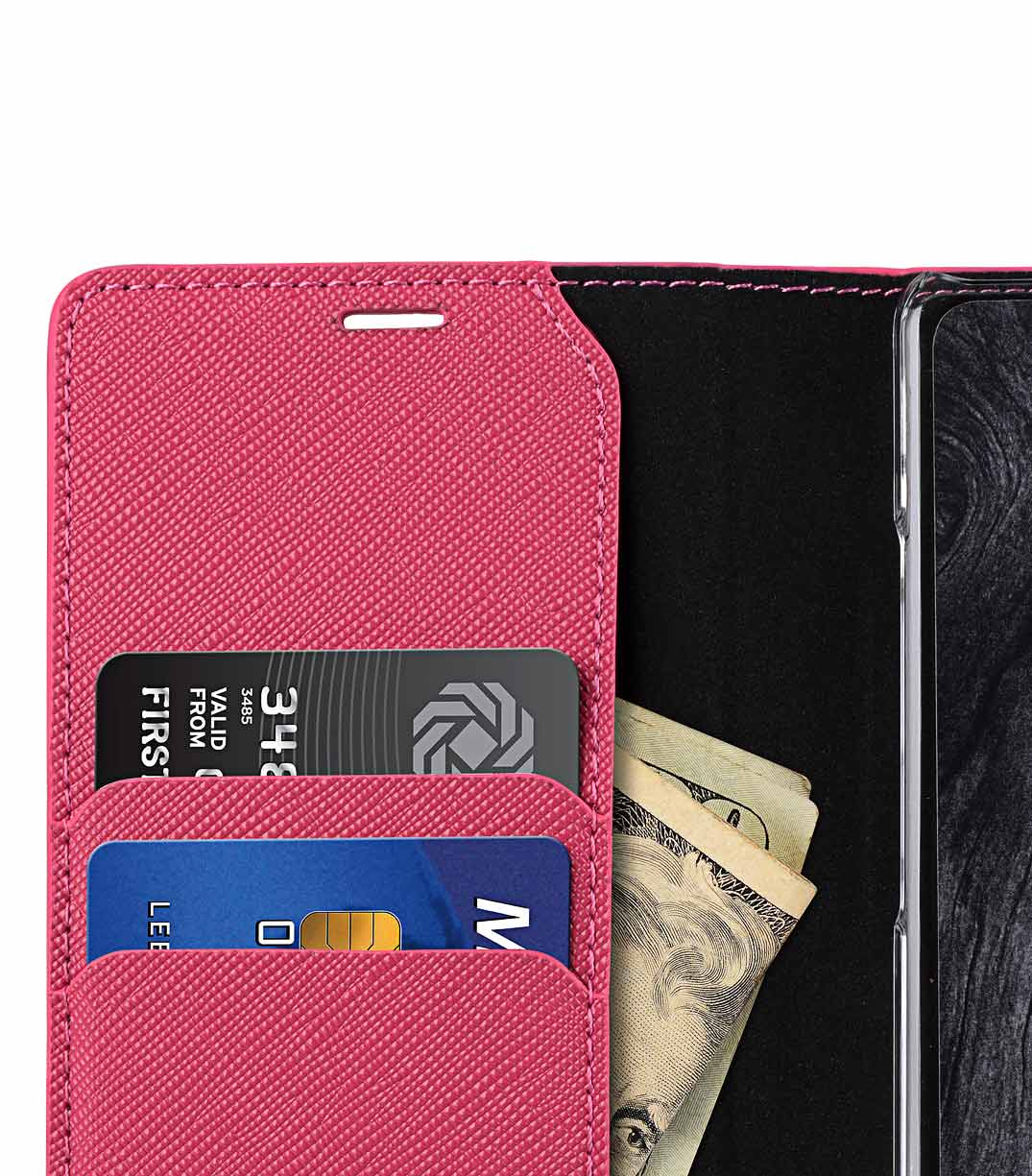 Melkco Fashion Cocktail Series Cross Pattern Premium Leather Slim Flip Type Case for Samsung Galaxy Note 8 - ( Peach CP )