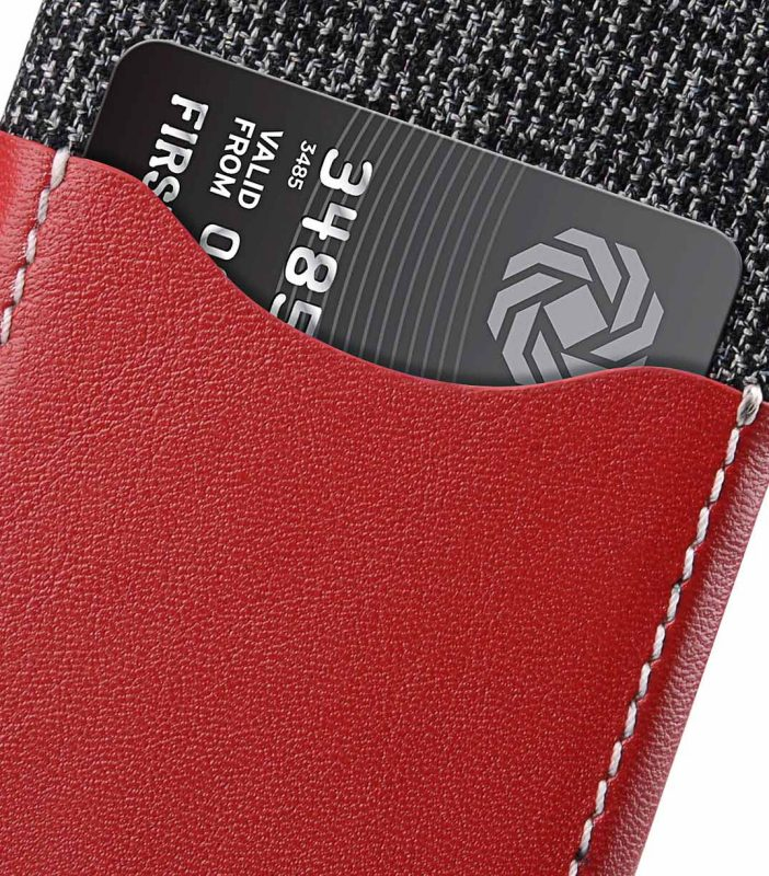 """Melkco Holmes Series Fine Grid Genuine Leather Snap Cover with Card slot Case for Apple iPhone 7/ 8 (4.7"""") - (Red)"""