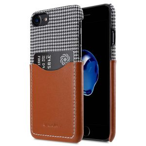 "Holmes Series Tobacco Genuine Leather Snap Cover with Card slot Case for Apple iPhone 7 / 8 (4.7"")"