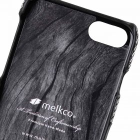 "Melkco Holmes Series Venis Genuine Leather Snap Cover with Card slot Case for Apple iPhone 7/ 8(4.7"") – (Black)"
