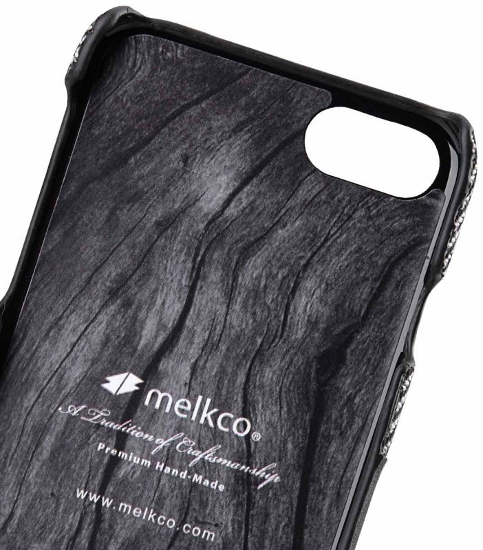 "Melkco Holmes Series Venis Genuine Leather Snap Cover with Card slot Case for Apple iPhone 7/ 8(4.7"") - (Black)"