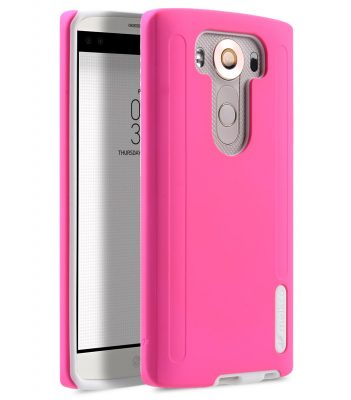 Melkco Kubalt Double Layer Case for LG V10 - Pink / White