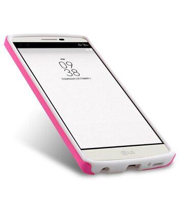 Melkco Kubalt Double Layer Case for LG V10 - Pink / White