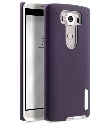 Melkco Kubalt Double Layer Case for LG V10 - Purple/White