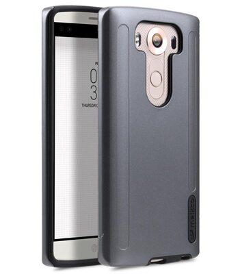 Melkco Metallic Kubalt Double Layer Case for LG V10 - (Space Grey / Black)