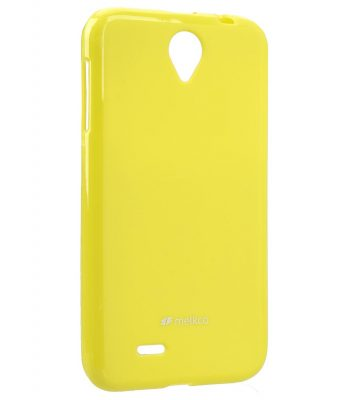 Melkco Poly Jacket TPU Cases for Lenovo A850 (Pearl Yellow)