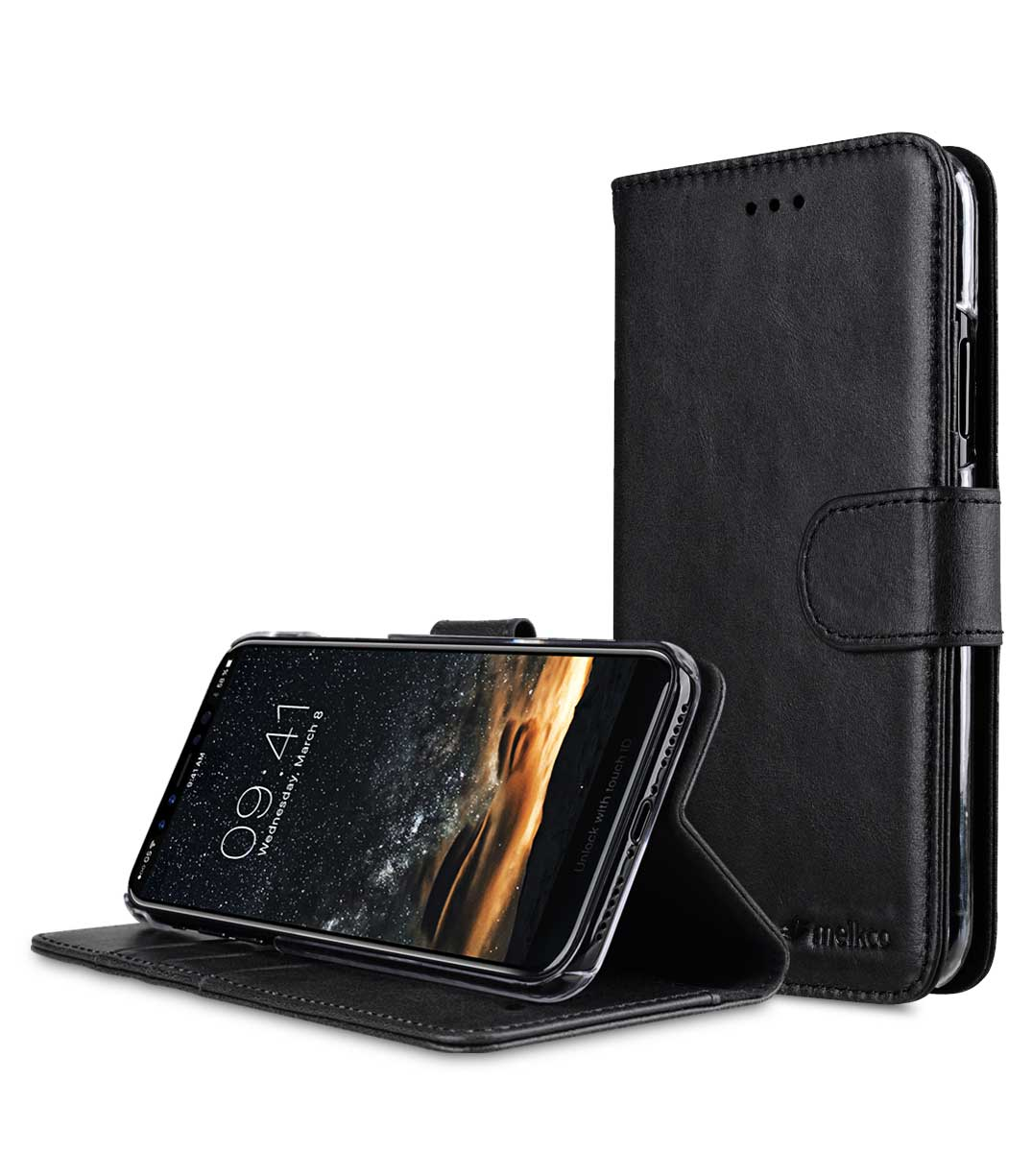 premium leather case for apple iphone x wallet book. Black Bedroom Furniture Sets. Home Design Ideas