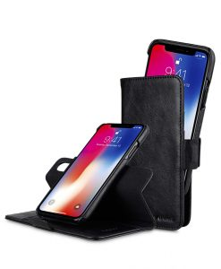 PU Leather Case for Apple iPhone X - Alphard Wallet Type