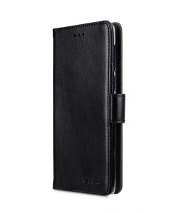 Melkco PU Leather Case for Nokia 8 - Wallet Book Clear Type (Black)